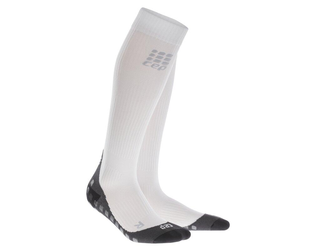 Kompresné podkolienky CEP Run Socks Griptech (white) women ... 4718fed13e6