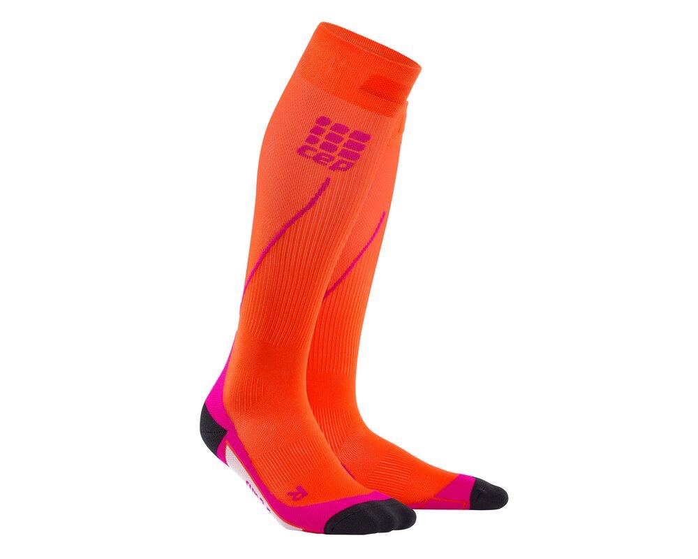 Kompresné podkolienky CEP Run Socks 2.0 women orange  2cf3293bd17
