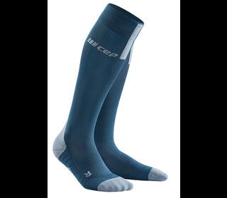 Kompresné podkolienky CEP Run Socks 3.0 men blue grey