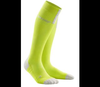 Kompresné podkolienky CEP Run Socks 3.0 men lime